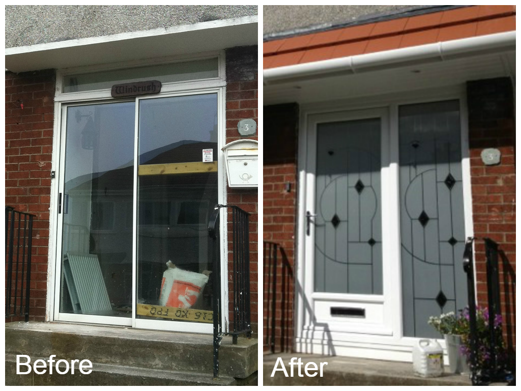 Before and after front door & Universal Windows and Doors | Expert Advice on UPVC Doors Glasgow ...